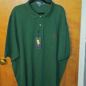 Ralph Lauren Green Polo Shirt 4XB